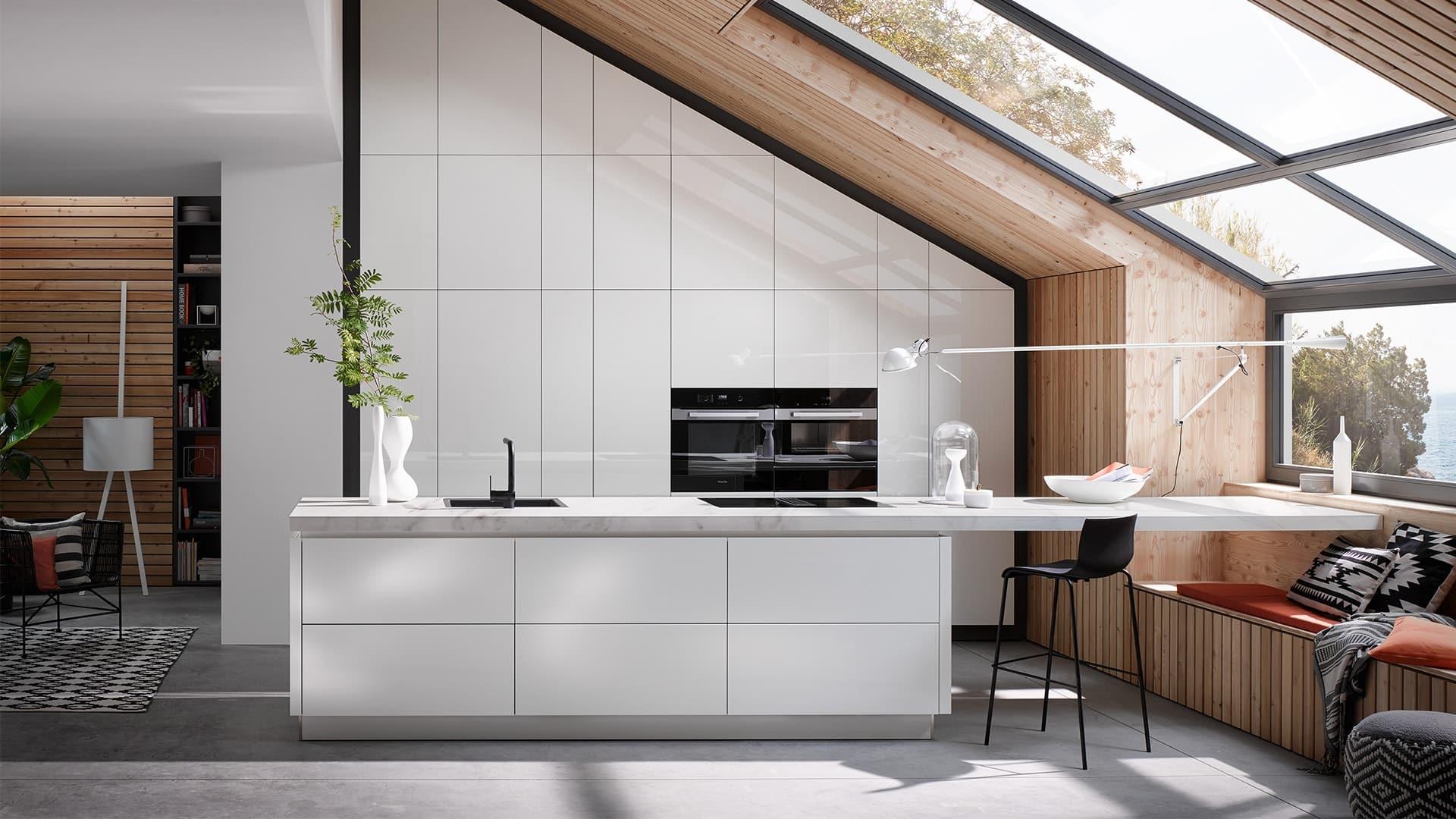 een hoogglans keuken van keukencentrum uniek